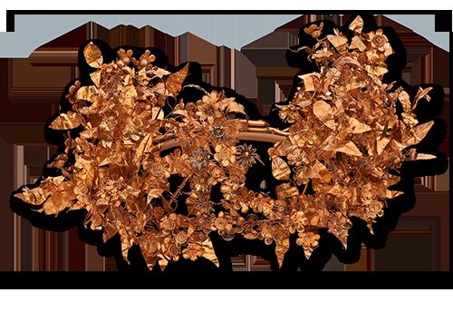 Χρυσό στεφάνι που επαναπατρίστηκε από το Μουσείο Getty. Αρχαιολογικό Μουσείο Θεσσαλονίκης.